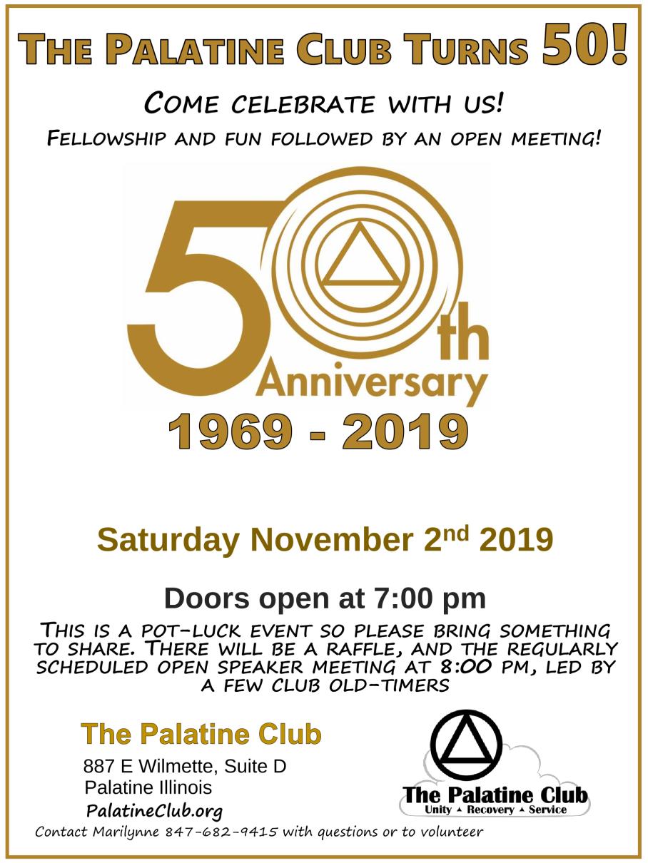 50th Anniversary Flyer
